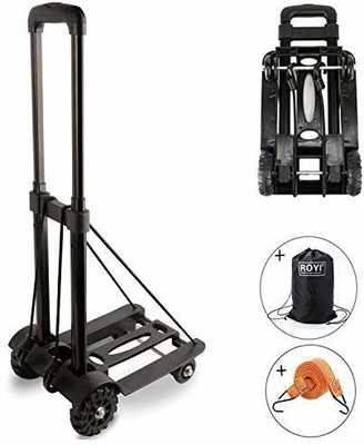 #5. ROYI 155lbs Heavy Duty 4 Wheels Utility Cart Lightweight & Compact Folding Hand Truck
