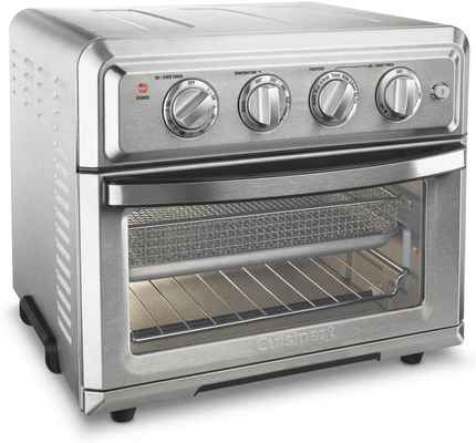 #1.Cuisinart TOA-60 Silver 1800W 0.6 Cubic Non-Stick Interior Convection Toaster Oven Air Fryer