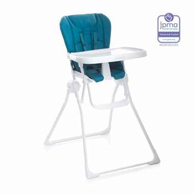 #3. Joovy One-Hand Compact Adjustable 5-Point Harness Nook High Chair (Turquoise)