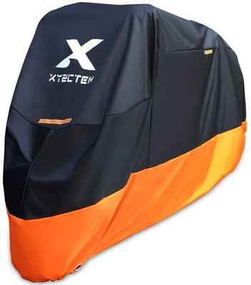 #3. XYZCTEM XXL 108'' Tour Bikes All Season Waterproof Motorcycle Cover (Black & Orange)