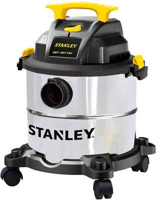 #9. Stanley 3-in-1 5-Gallon Shop dry/Wet Vacuum with 4 Horsepower