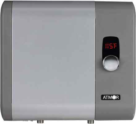 #6. Atmor 4.6 GPM 24kw/240V AT-910-24TP Digital Electric Tankless Water Heater (Grey)