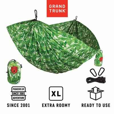 3. Grand Trunk Nylon Print Double Parachute Camping Hammock with Hanging Kit and Carabiners