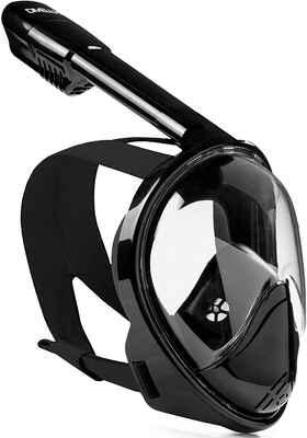 #3. DIVELUX Anti-Fog Original Full Face Snorkel Mask w/Longer Ventilation Pipe