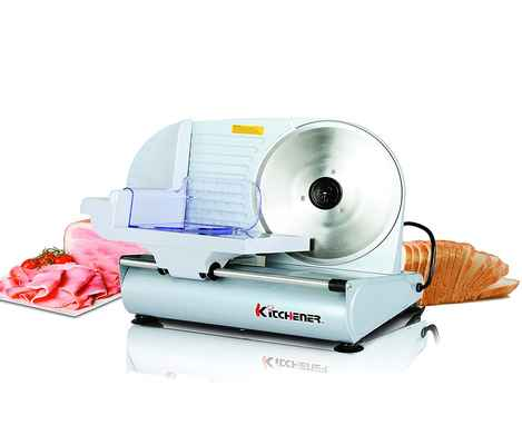 #1. Kitchener 9'' 150W Stainless Steel Blade Professional Electric Meat Deli Cheese Food Slicer