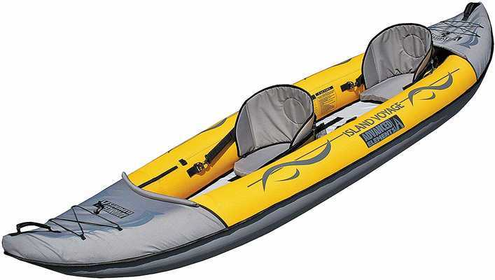 #8. ADVANCED ELEMENTS Removable Deep Tracking Fin Island Voyage Rear Drain 2 Inflatable Kayak