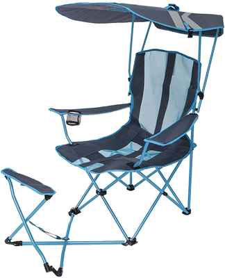 #5. SwimWays Multi-Use Portable Sun Protection Kelsyus Original Canopy Chair w/Ottoman