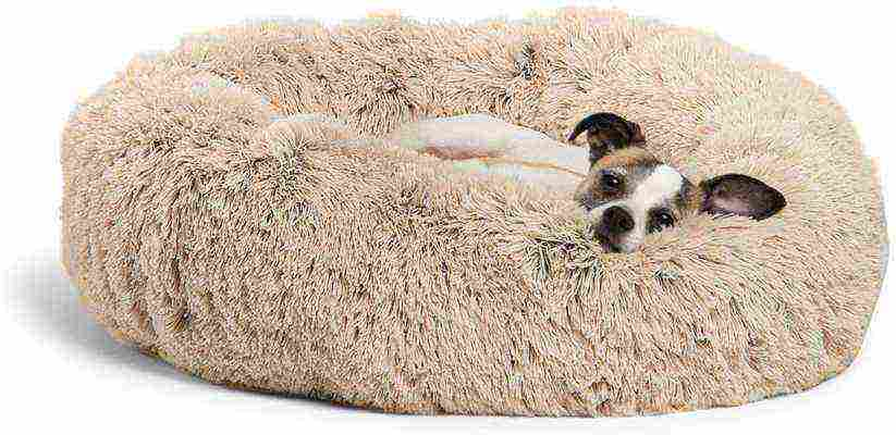 #8. Best Friends by Sheri Multiple Sizes Comfortable Versatile Calming Shag Vegan Fur Donut Cuddler