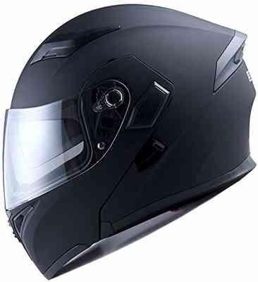 #7. 1Storm L Size HB89 Modular Flip Up Dual Visor Sun Shield Motorcycle Helmet (Matte Black)