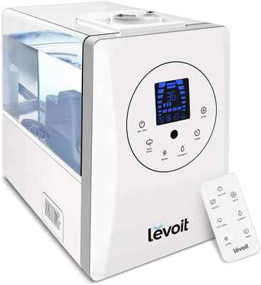 #1. LEVOIT Whisper-Quiet Ultra-Sonic Warm & Cool Mist Humidifier for Large Room (White)