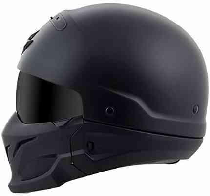 #2. ScorpionEXo COV-0105 Covert Unisex-Adult Half-Size Style Matte Helmet (Matte Black-Large)