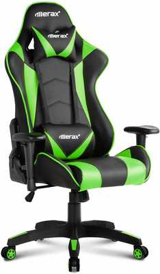 #8. Merax Multi-Functional Build Hold Up To 250lbs Superior Comfort Computer Racing Chair (Green)