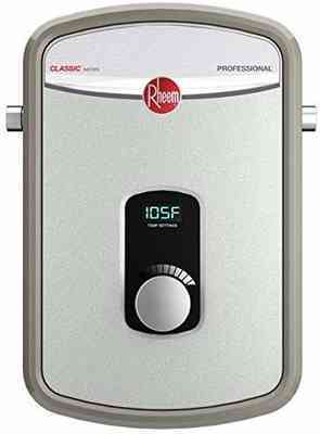 #10. Rheem240V RTEX-13 Residential Heating Chamber Up to 3.17 GPM Tankless Water Heater