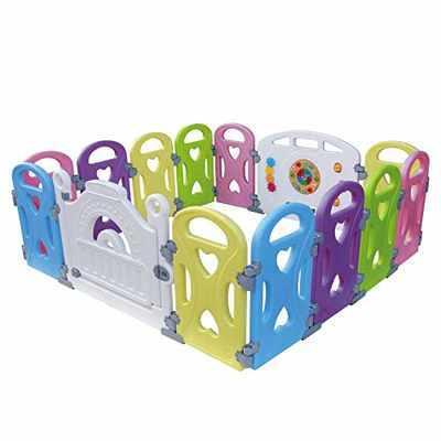#8. Gupamiga 14 Panel New Pen Castle Indoor Outdoor Safe Playard Home Baby Playpen