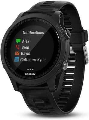 #1. Garmin Black 1.2'' LCD Display Premium GPS Multi-Sport Forerunner GPS Running Watch