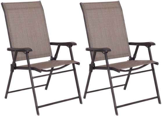 #5. Giantex Set of 2 Patio Furniture Camping Garden Pool Beach Folding Sling Chairs