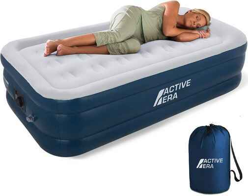 #7. Active Era Flocked Top Waterproof Puncture Resistant Elevated Inflatable Airbed