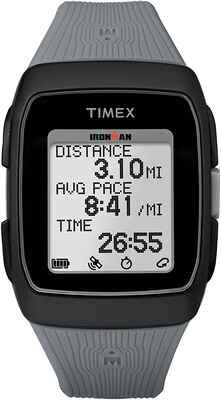 #2. TIMEX Black/Grey Simple Interface Lightweight Universal GPS Running Watch