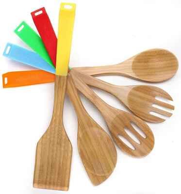 #9 COOKSMARK Dishwasher-Safe Heat-Resistant 8Pcs Non-Stick Kitchen Utensils Set