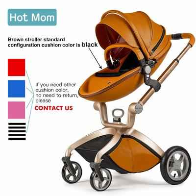 4. Hot Mom Baby Carriage Included Bassinet Combo Stable & Safe Stroller (Brown)