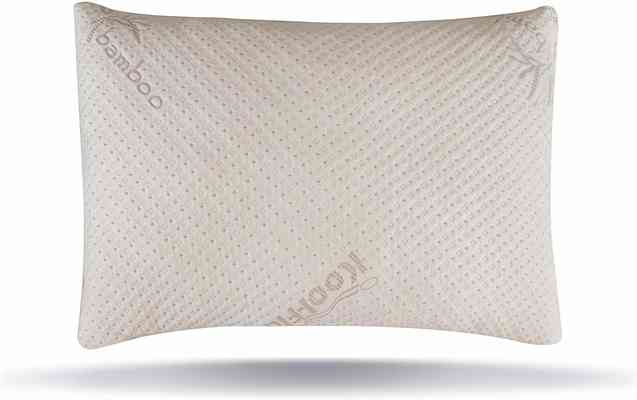 #2. Snuggle-Pedic Bamboo Shredded Ultra-Luxury Adjustable Fit Cooling Memory Pillow