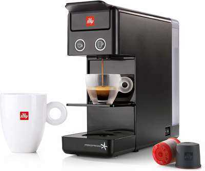 #10. ILLY 60296 Y3 Blade One-Touch Operation 7 Capsules Nespresso Machine (Black)
