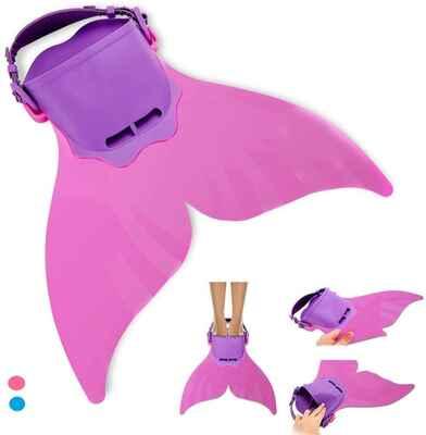 #6. AIWANK Kid Monofin Adjustable Kids Mermaid Swim Flippers Fin for Swimming