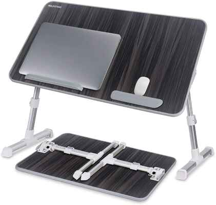 #2. NEARPOW Large Adjustable Foldable Portable Laptop Bed Tray Table for Sofa Couch