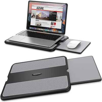 #8. AboveTEK Non-Slip Heat Shield Portable Laptop Desk w/Sturdy Stable Cooler for Travel