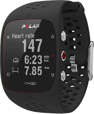#3. POLAR Black 0.22Kg Integrated Accurate Heart Rate 24/7 Activity Tracking GPS Running Watch