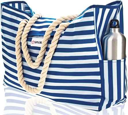 #4. SHYERO 100% Waterproof Outside Pockets Rope Handles Beach Bag & Pool Bag