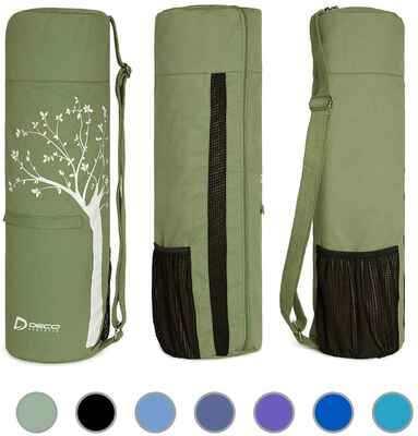 #8. Deco Athletic 2 Large Zip Pockets Full Zip Fits Up Large Mesh Pocket Athletic Fitness Mat
