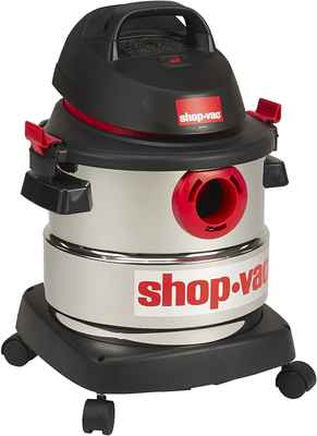 #10. Shop-Vac Powerful & Portable 4.5 Peak 5-Gallon 5989300 Wet/Dry HP Stainless Steel Vac