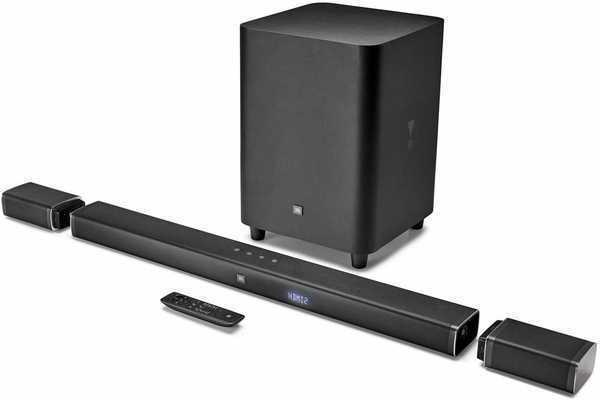 #7. JBL 4K Ultra HD 5.1 Channel Soundbar 510W 10-inch Wireless Speakers Subwoofer 3 HDMI Inputs