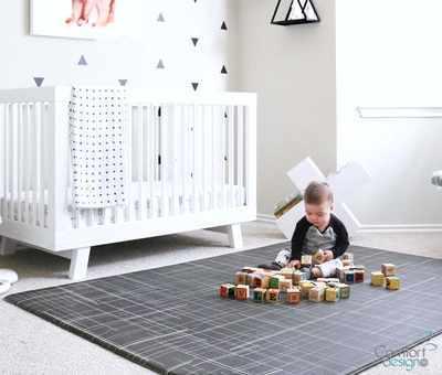 #9. Comfort Design Premium Stylish Cushy-Soft Non-Toxic Large Baby Play Mat (Black)