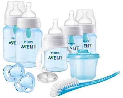 1. PHILIPS AVENT SCD393/05 Air-Free Vent Anti-Colic Baby Bottle for Beginner (Blue)
