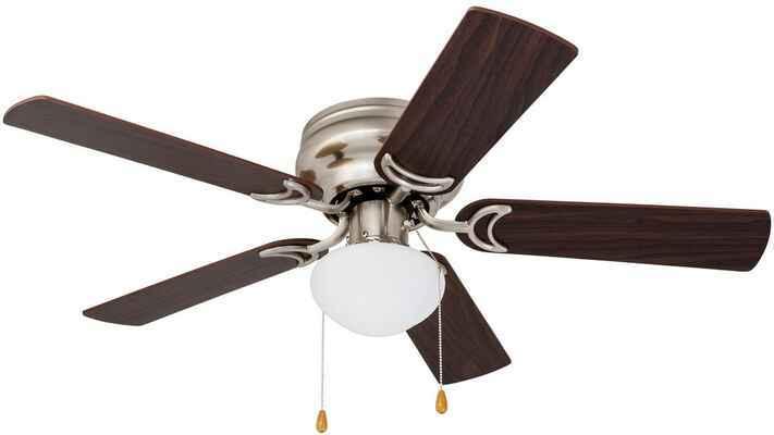 #9. PROMINECE Home 80029-01 42'' Low Profile Ceiling Fan w/Light (Satin Nickel)