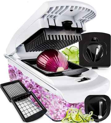 #6. Fullstar 4 Blades Spiralizer Vegetable Onion Chopper Pro Food w/Container Slicer Dicer Cutter