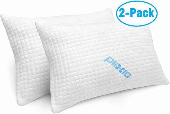 #4. Plixio 2 Pack Bamboo Hypoallergenic for Side & Back Sleeper Shredded Memory Foam Pillow