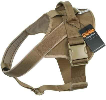 #7. EXCELLENT ELITE SPANKER Patrol K9 Military Service Dog Vest Working Tactical Dog Harness w/Handle
