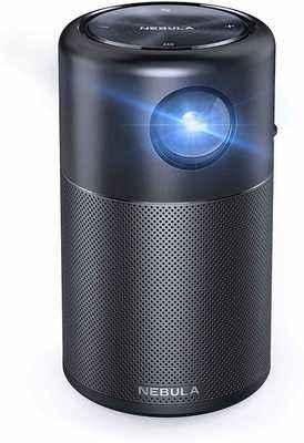 #2. Anker Nebula Capsule 100 ANSI Lumen 100'' Picture Smart Wi-Fi Mini Movie Projector (Black)