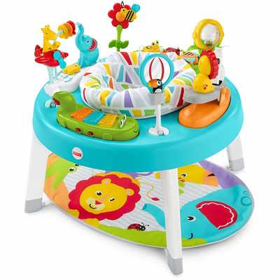 #2. Fisher-Price 3-in-1 Adjustable Height Sit to Stand Machine Washable Activity Center