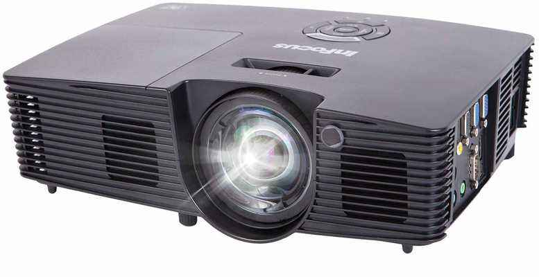 #6. InFocus IN112XA DLP SVGA 3800 Lumens 3D Ready Superior Viewing 2 HDMI Projector w/Speakers