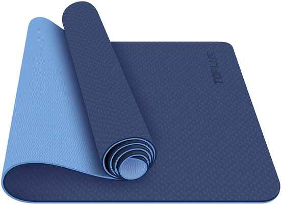 #3. TOPLUS Pro ¼'' Classic Eco-Friendly Strap Workout Non-Slip Fitness Exercise Yoga Mat