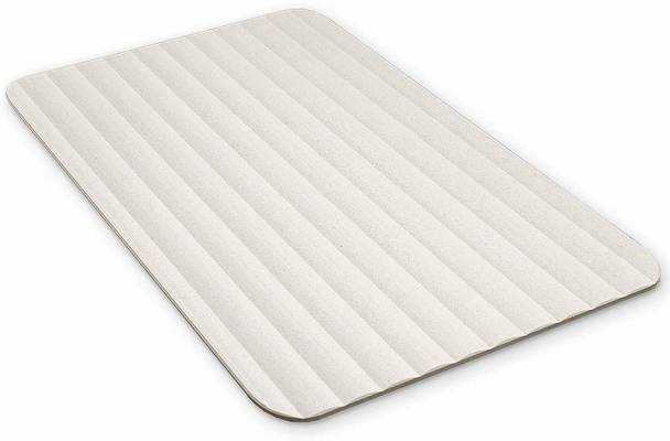 #4. Microdry Drystone Lightweight Super-Fast Drying & Shock-Resistant Absorbent Bath Mat (White)