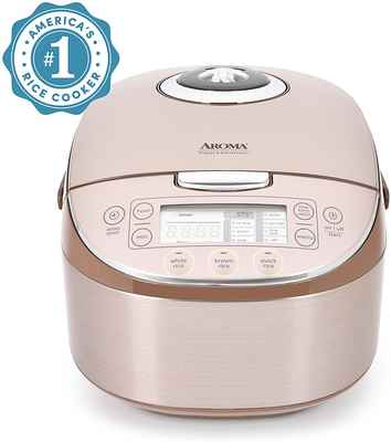 #8. Aroma Housewares MTC-8008 Professional 8-Cup Uncooked Rice Cooker (Champagne)