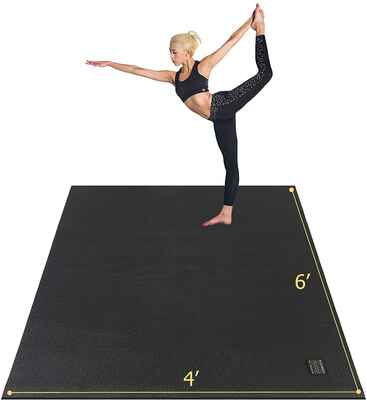 #5. Gxmmat Non-Slip Extra Thick Anti-Tear Large Yoga Exercise Mat for Home Gym Workout