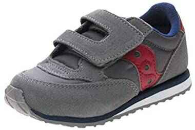 #2. Saucony Hook & Loop Closure Two-Tone Midsole Low Profile Synthetic Sole Kid's Sneakers
