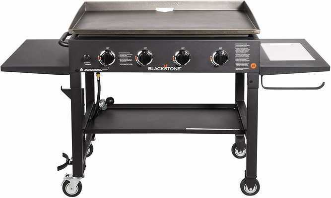 #5. Blackstone 36'' Flat-top 4 Burner Propane Fueled Quality Outdoor Gas Grill Griddle