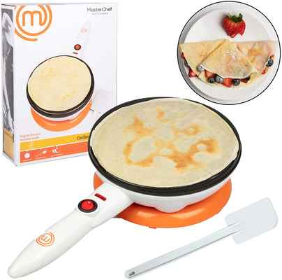 #4. MasterChef Non-Stick Dipping Plate Cordless Crepe Maker Pan w/Electric Base & Spatula